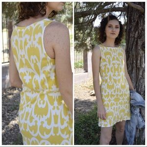J Crew Yellow Pattern Sleeveless Dress